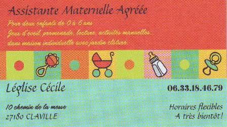 Carte De Visite Claville Commerces Services Et Artisans Du Village